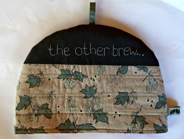 hop fabric tea cosy