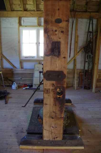 hop press disassembled for repair