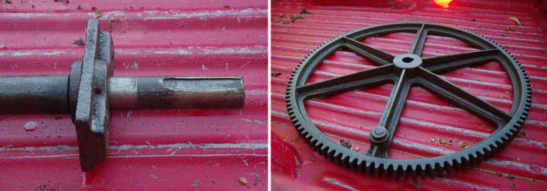 hop press wheel and key-way