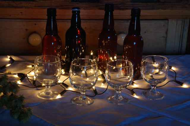 A special beer tasting continued our festive magic