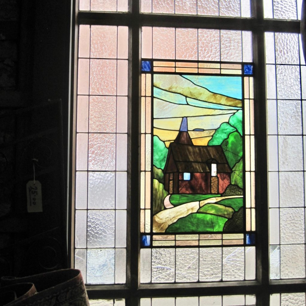 oast house stained glass window